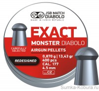 JSB Diabolo Exact Monster Redesigned 4,52 мм 0,870 гр (400 шт.)